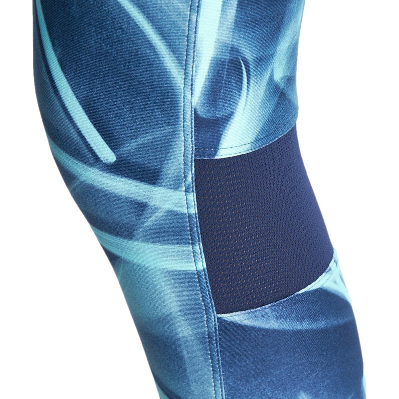 Legging 7/8 fitness fille ENERGY+ bleu marine