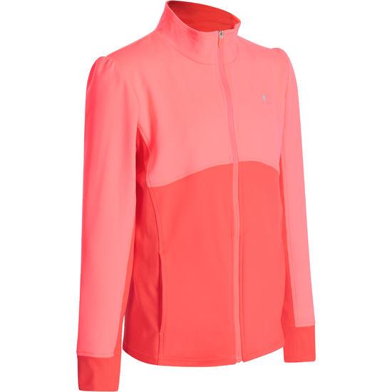 Warm gym vest met rits Energy voor meisjes - 935819
