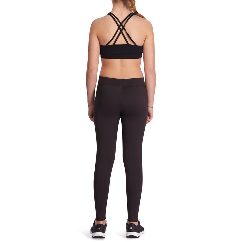 Legging chaud S500 Gym fille noir