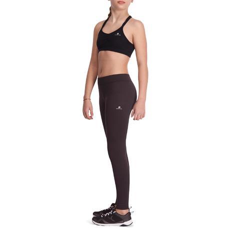 8c69e8ebe633fc S500 Girls' Warm Gym Leggings - Black   Domyos by Decathlon
