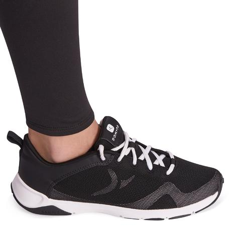 5be132543d Leggings quentes de Ginástica Menina S500 Preto