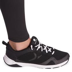 Ademende synthetische gymlegging voor meisjes S500 zwart