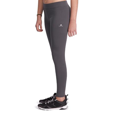 legging fitness fille energy gris domyos by decathlon. Black Bedroom Furniture Sets. Home Design Ideas