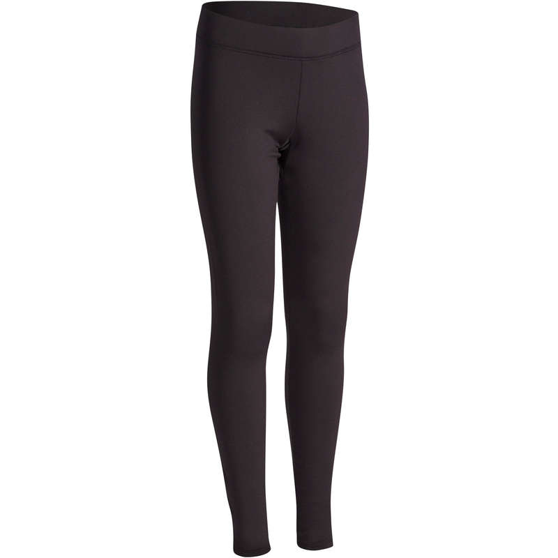 GIRL EDUCATIONAL GYM COLD WEATHER APP Fitness and Gym - S500 Girls' Warm Gym Leggings DOMYOS - Gym Activewear