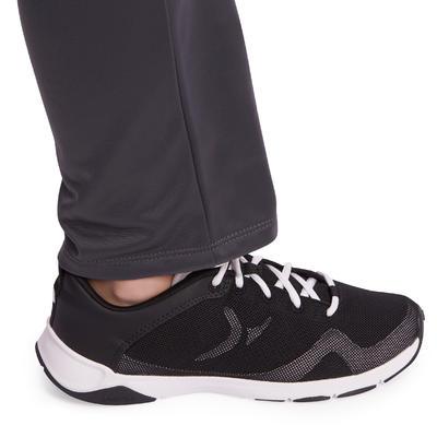 Jogging zippé fitness garçon GYM'Y blanc gris