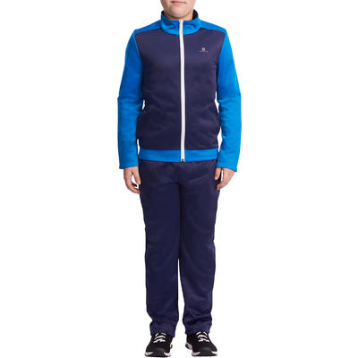 Gym'y Boys' Warm Zip-Up Gym Tracksuit - Navy Blue