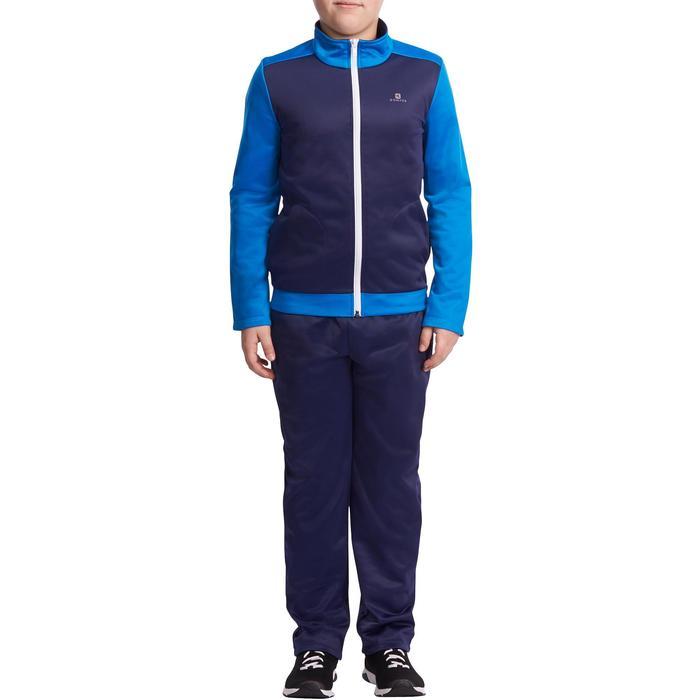Warm trainingspak Energy Gym'y voor jongens blauw/marineblauw