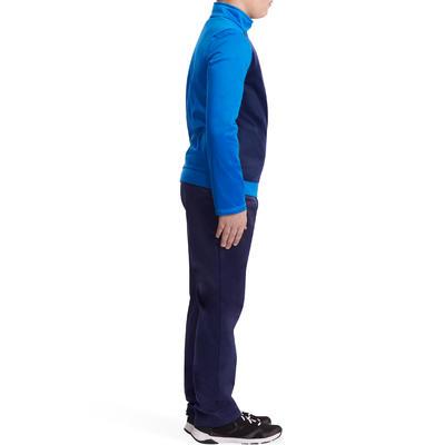 بدلة تدريب الجمنازيوم الدافئة المغلقة للأولاد - أزرق بحري