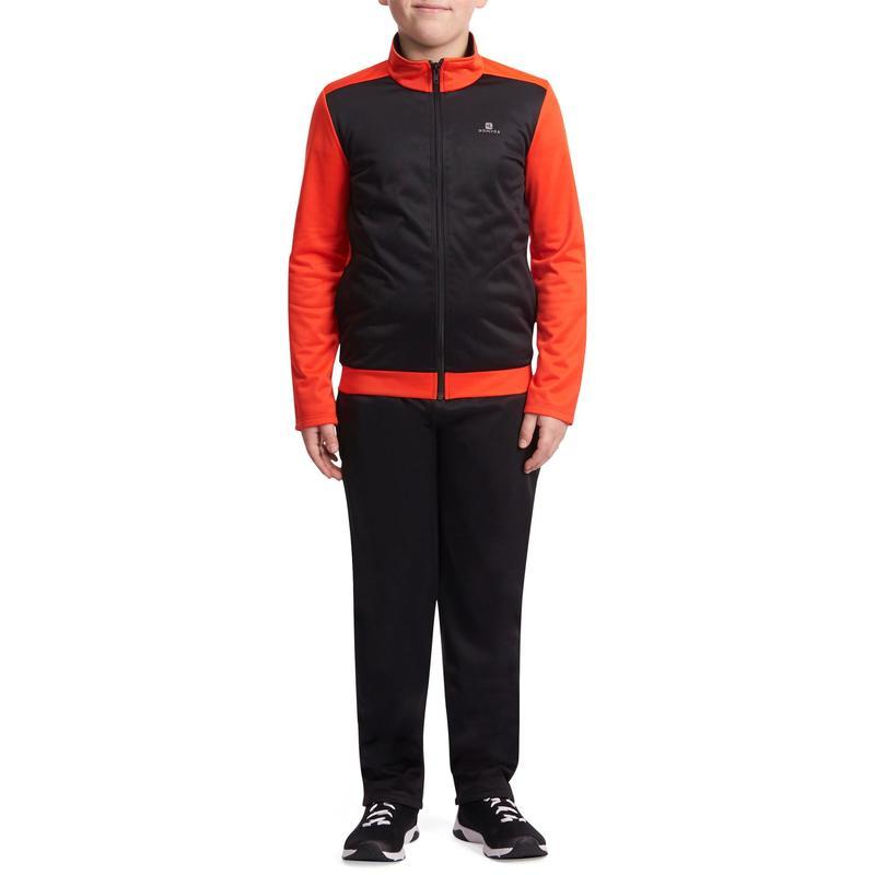 Negro Cálido Cremallera Rojo De Chándal Gimnasia Con Energy Niño Gym FZqvnfSw