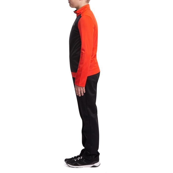 Survêtement chaud zippé Gym Energy garçon rouge noir Gym'y
