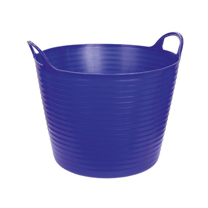 Seau souple équitation bleu 42 L