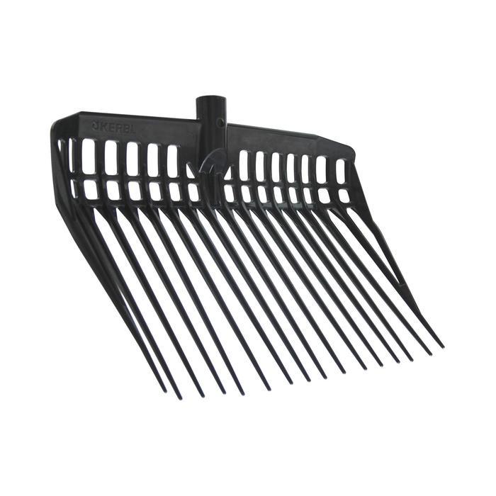 Mestvork + steel ruitersport zwart