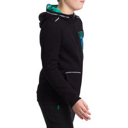 Warm ritsjack met kap print gym jongens - 936331
