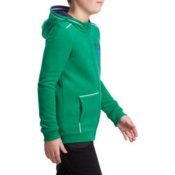 Warm ritsjack met kap print gym jongens - 936348