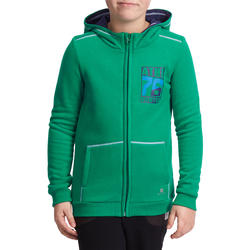 Warm ritsjack met kap print gym jongens - 936350