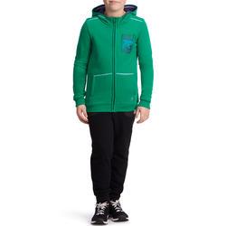 Warm ritsjack met kap print gym jongens - 936357