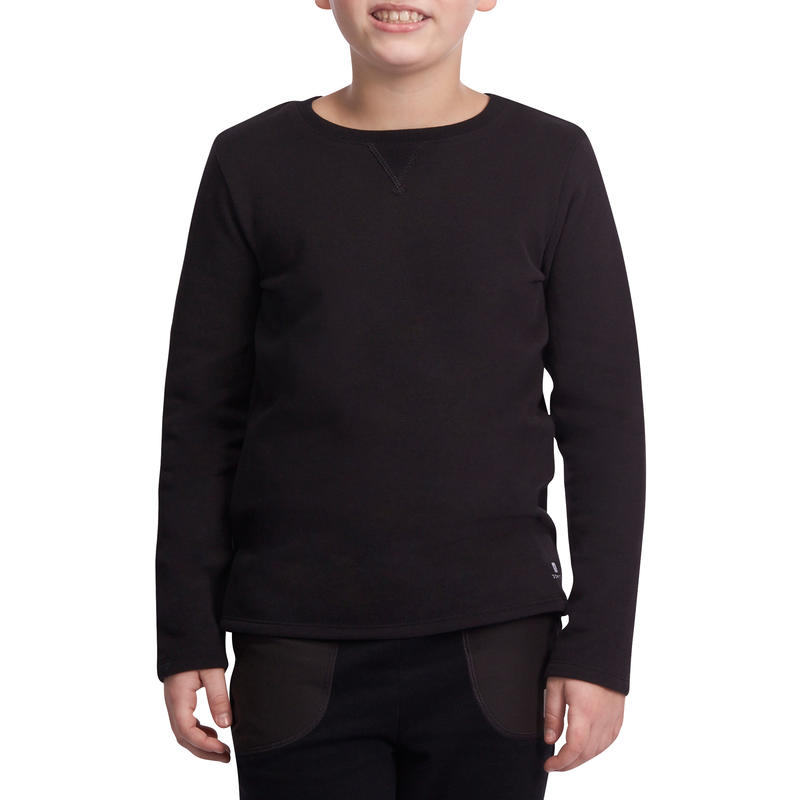 100 Boys' Gym Sweatshirt - Black