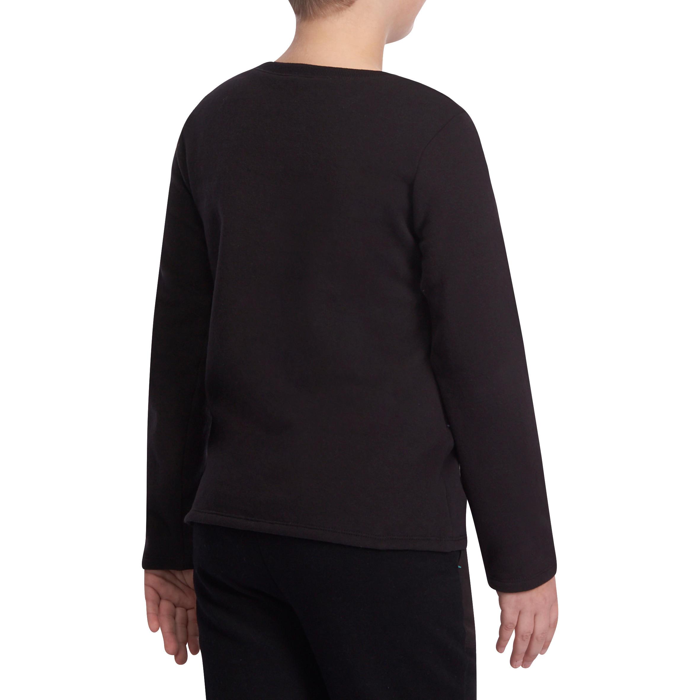 100 Boys' Gym Sweatshirt - Black