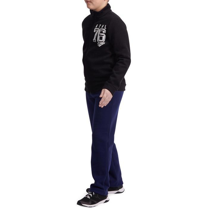 Survêtement chaud imprimé Gym garçon noir Warm'y Zip