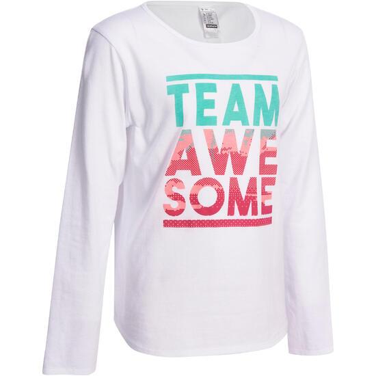 Meisjesshirt met lange mouwen voor gym - 936599