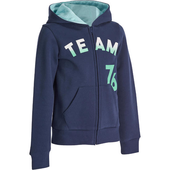 Warme gym hoodie met rits voor meisjes - 936649