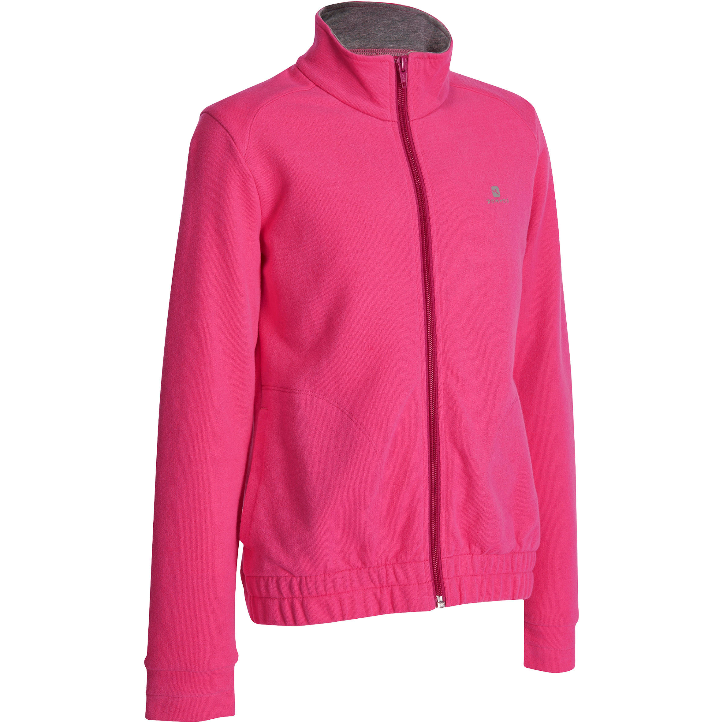 Sudadera con cierre fitness niña rosa