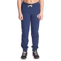 Warme gymbroek 500, regular fit, meisjes, met zakken