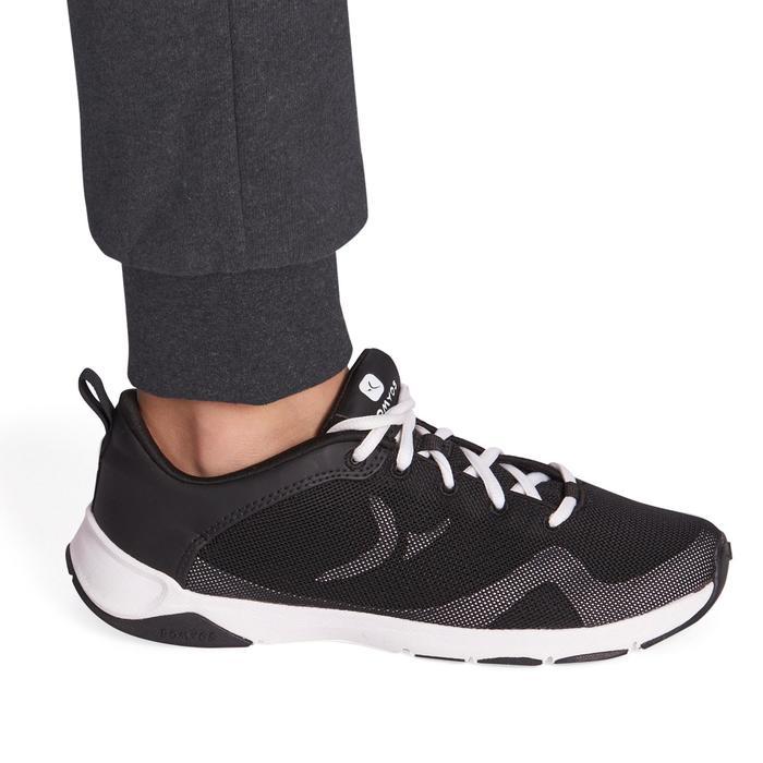 Pantalon 500 chaud regular Gym Fille poches gris