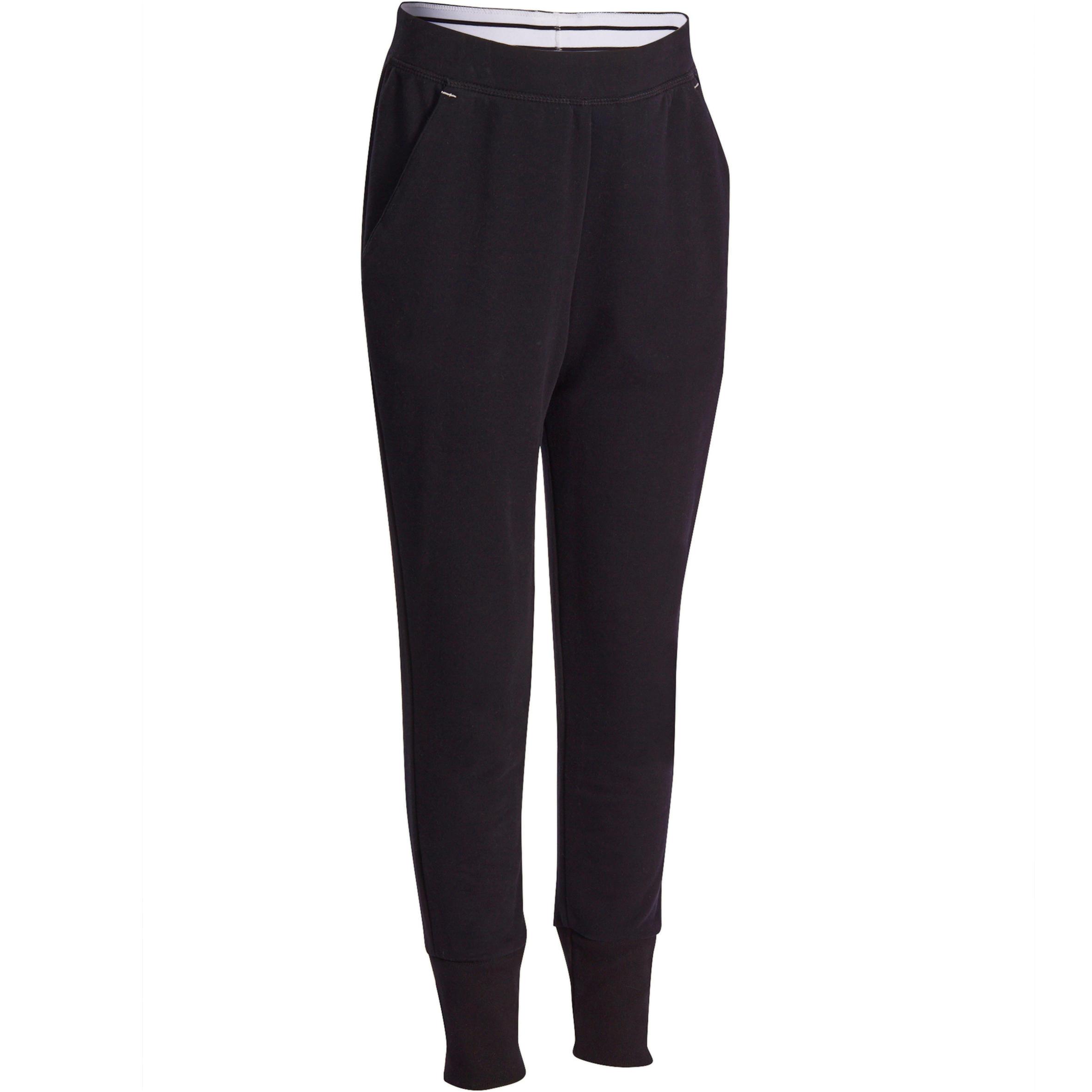 Pantalón fitness niña SLIM negro
