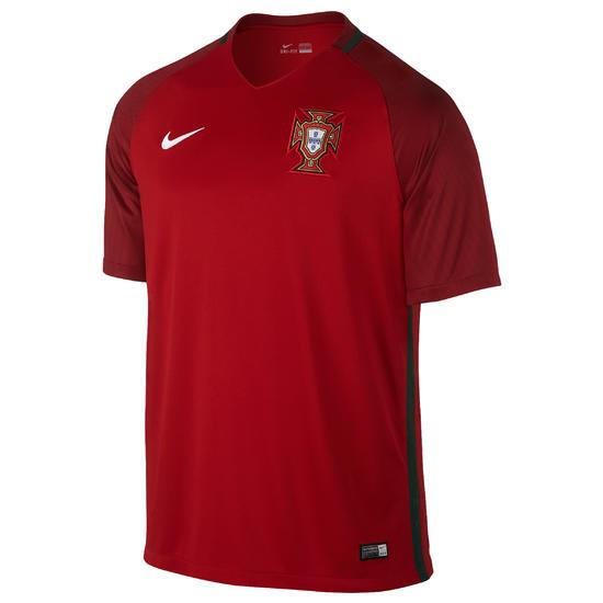 Voetbalshirt Portugal thuisshirt EK 2016 volwassenen rood - 937001