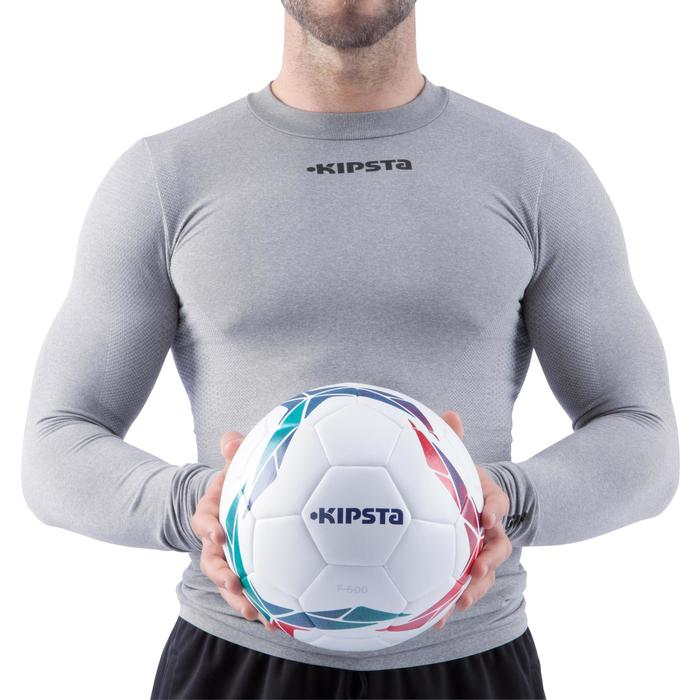 Voetbal F500 hybride maat 4 wit/rood/groen