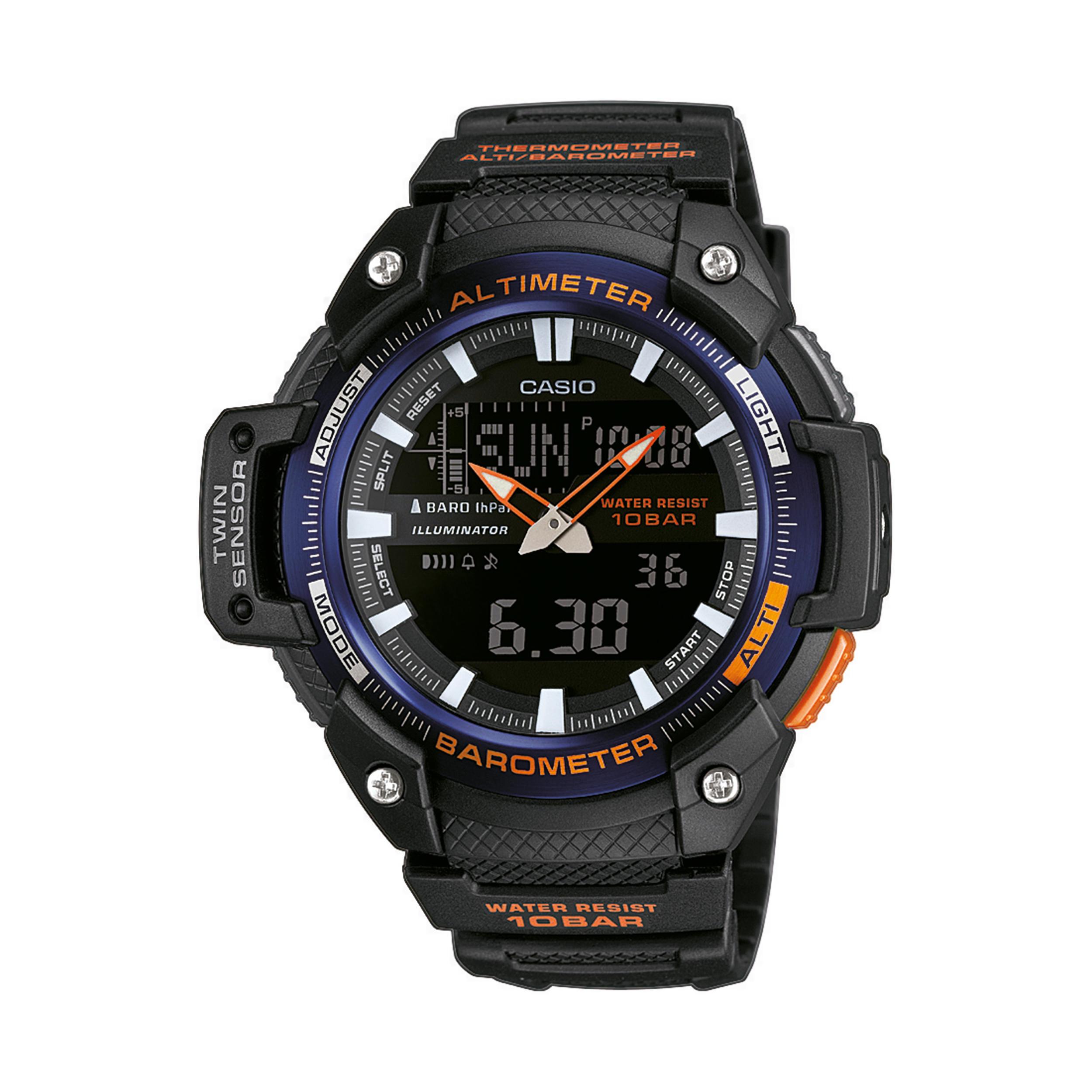 fc411c65d66 Casio Montre baromètre SGW 450H 2BER noire