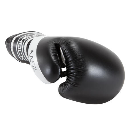 Guantes de box 300 Negro guantes entrenamiento nivel iniciación hombre o mujer