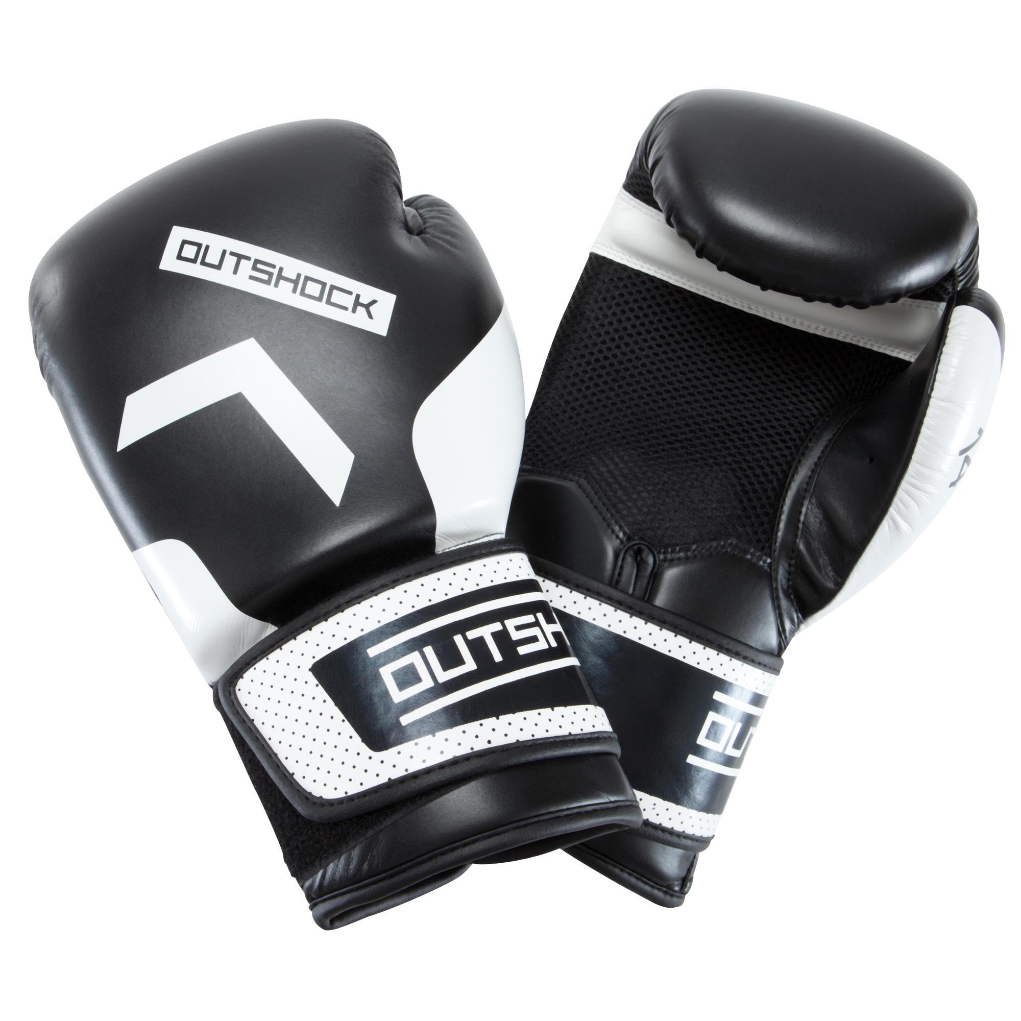 gants de boxe 300 noirs gants d 39 entra nement d butant homme ou femme domyos by decathlon. Black Bedroom Furniture Sets. Home Design Ideas