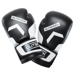 300 Beginner Adult Boxing Training Gloves - Black