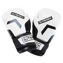 成人初學者拳擊訓練手套 300 - 白色