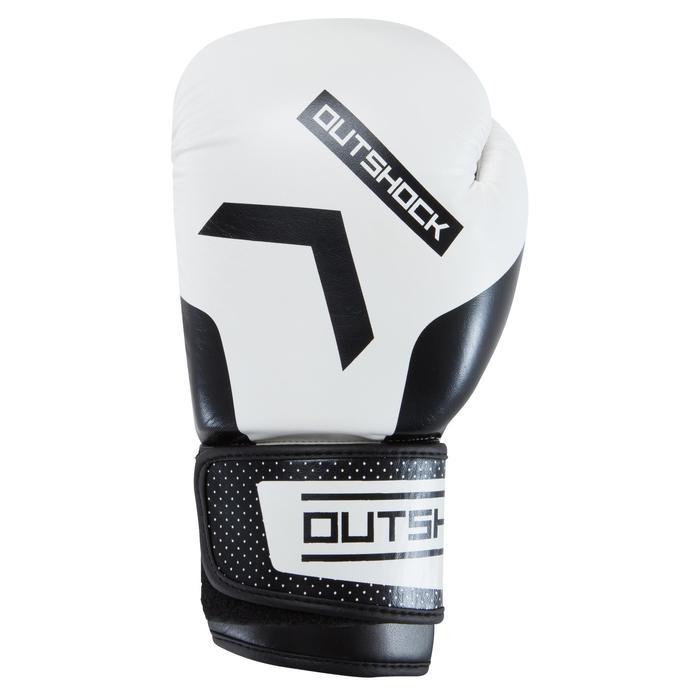 gants de boxe 300 blancs , gants d'entraînement débutant homme ou femme - 937606