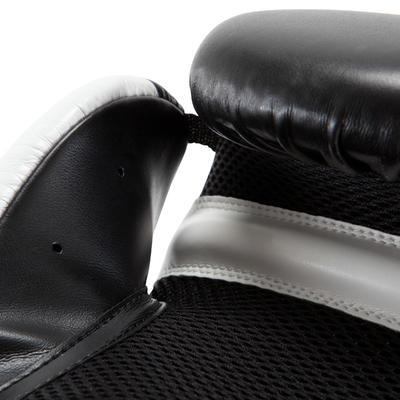 Guantes de entrenamiento principiante hombre mujer Boxing Gloves 300 Negro