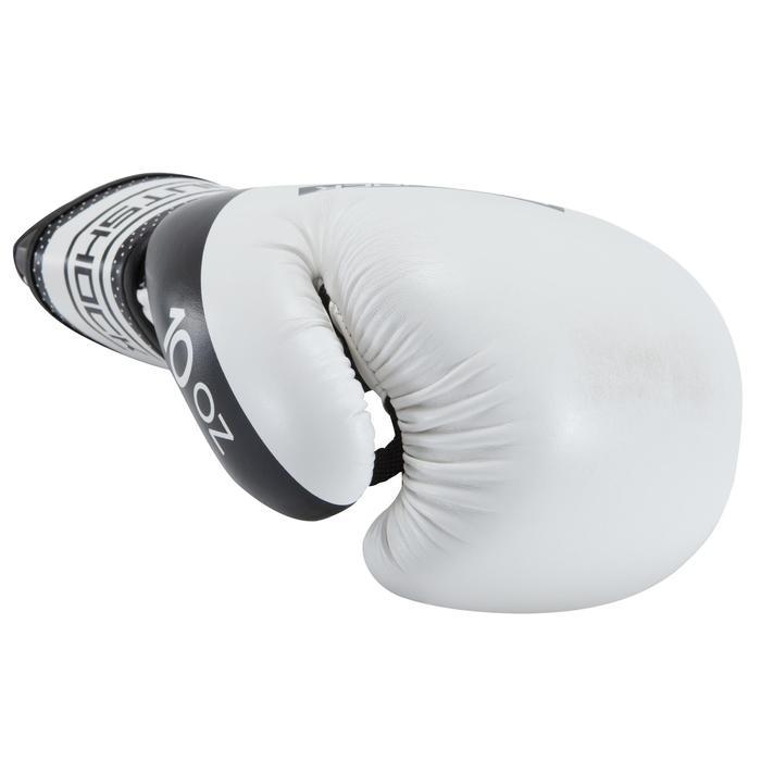 gants de boxe 300 blancs , gants d'entraînement débutant homme ou femme - 937616
