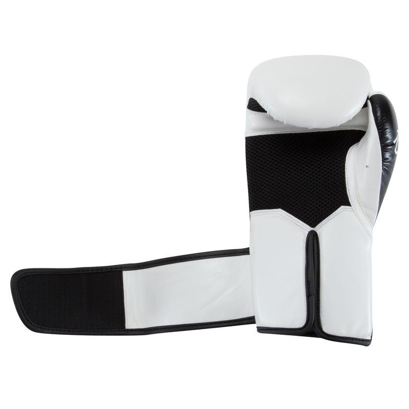 300 Beginner Adult Training Boxing Gloves - White