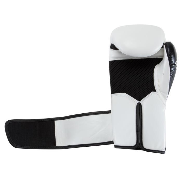 gants de boxe 300 blancs , gants d'entraînement débutant homme ou femme - 937618