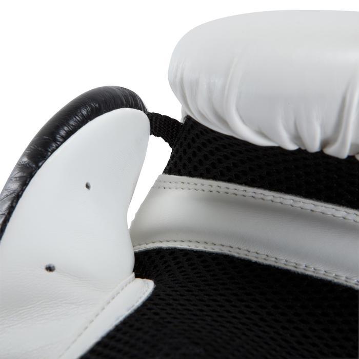 gants de boxe 300 blancs , gants d'entraînement débutant homme ou femme - 937620