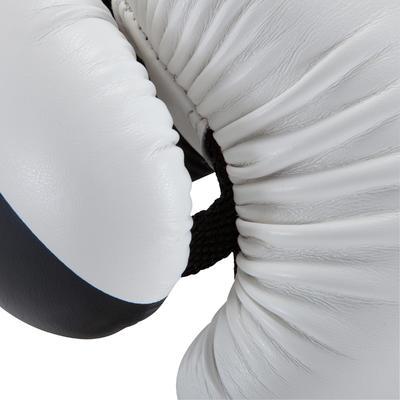 قفازات تدريبات الملاكمة 300 للكبار المبتدئين - أبيض