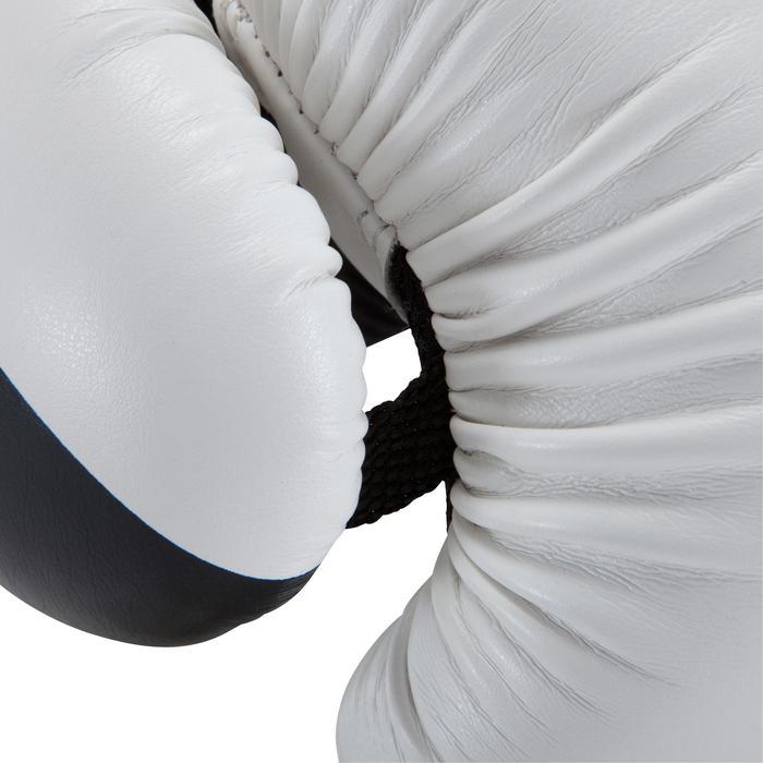gants de boxe 300 blancs , gants d'entraînement débutant homme ou femme - 937621
