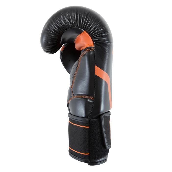 Gants de boxe 500  noir/orange, gants pour boxeur confirmés homme et femme - 937631