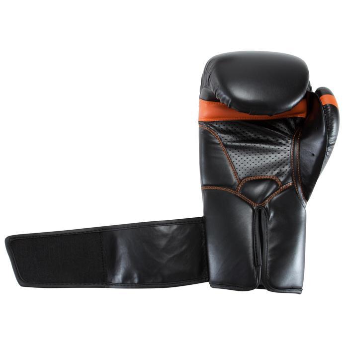 Gants de boxe 500  noir/orange, gants pour boxeur confirmés homme et femme - 937632