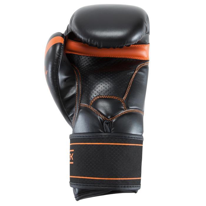 Gants de boxe 500  noir/orange, gants pour boxeur confirmés homme et femme - 937633
