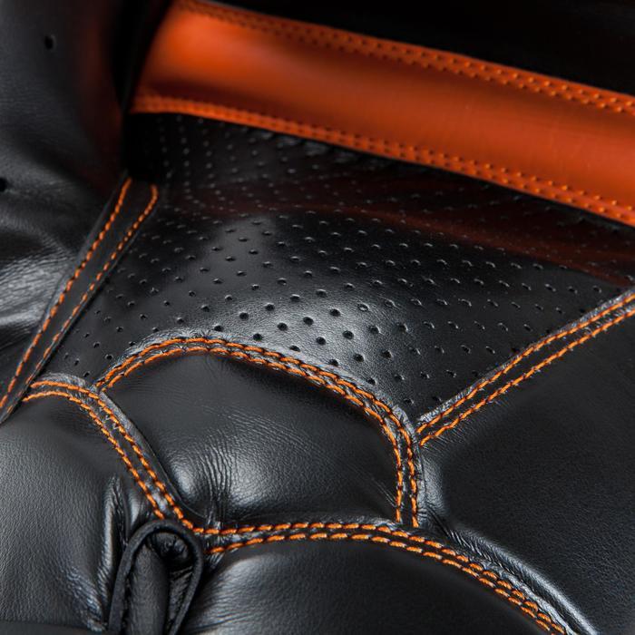 Boxhandschuhe unisex 500 Fortgeschrittene schwarz/orange