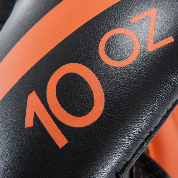 Gants de boxe 500  noir/orange, gants pour boxeur confirmés homme et femme - 937642