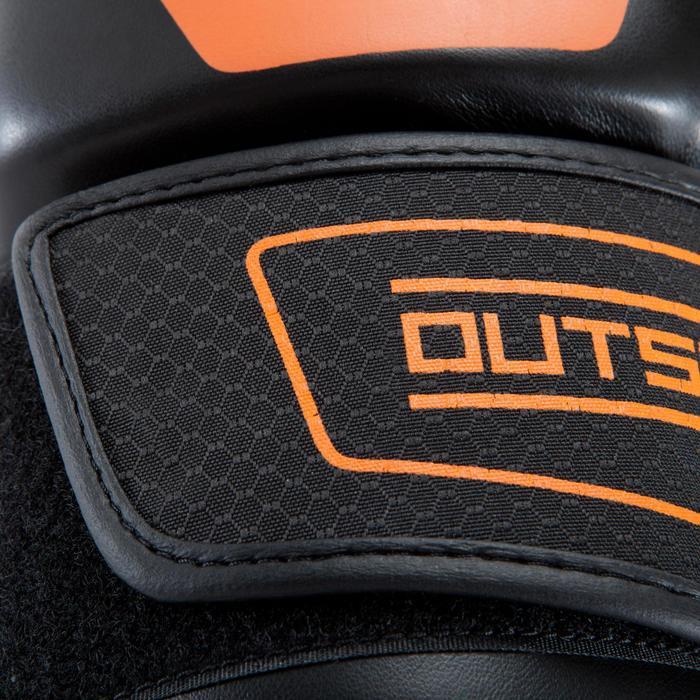 Gants de boxe 500  noir/orange, gants pour boxeur confirmés homme et femme - 937645